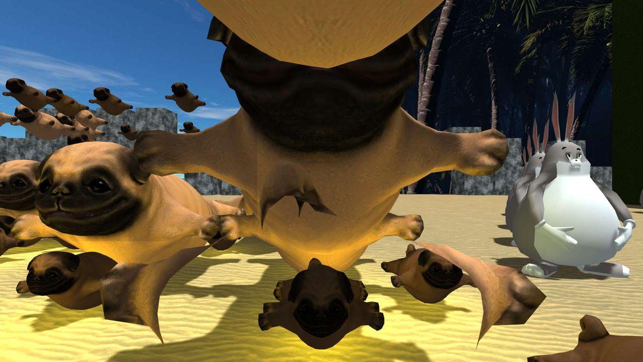 Big chungus And pugs - HiberWorld